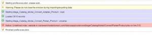 Magento Dataflow Error